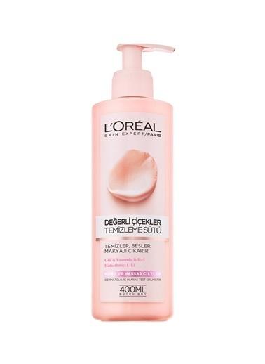 L'Oréal Paris Loreal Paris Değerli Çiçekler Kuru&Hassas Ciltler 400 ml Süt Temizleyici Renksiz